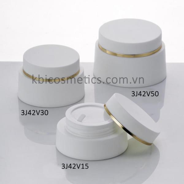 Hũ Oval nhựa PP, nắp tròn trắng hoặc in hình 3J42